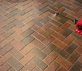 Which type of paving sealers should be applied to block paving?