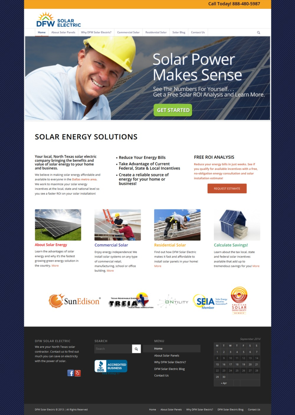 DFW Solar Electric - Successfully Delivered Projects On-Time and On-Budget. Improved Website Conversation Rate By 80% Against Existing Control.