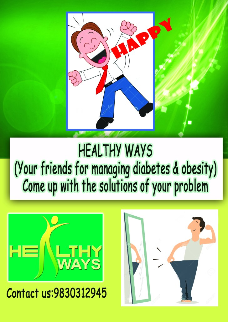 Front-end - Healthy Ways Cartoon Leaflet
