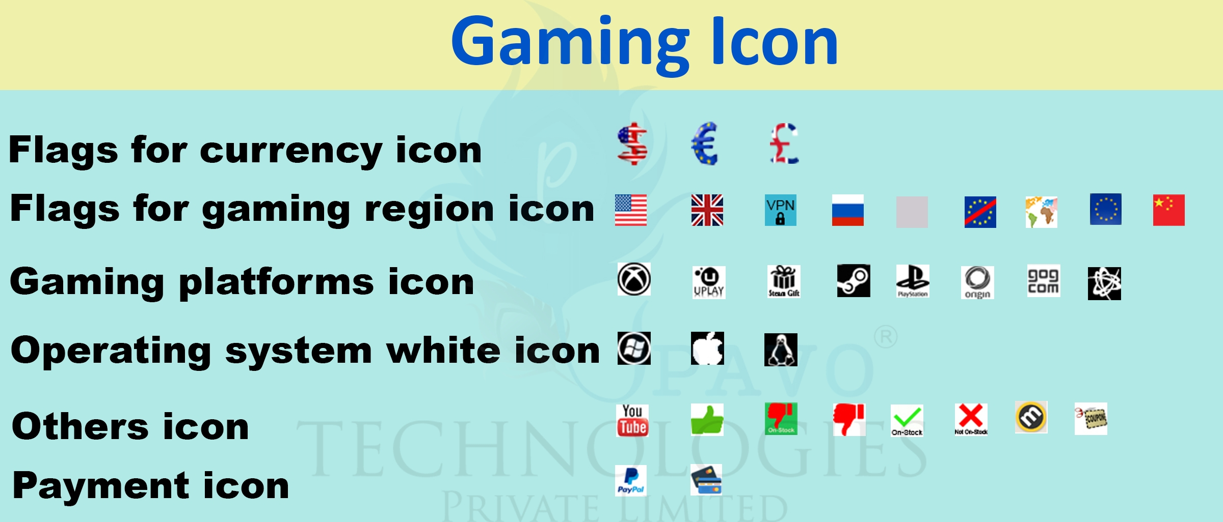 Simple Icon Creation for Gaming Shop - Successfully Delivered Projects On-Time and On-Budget.