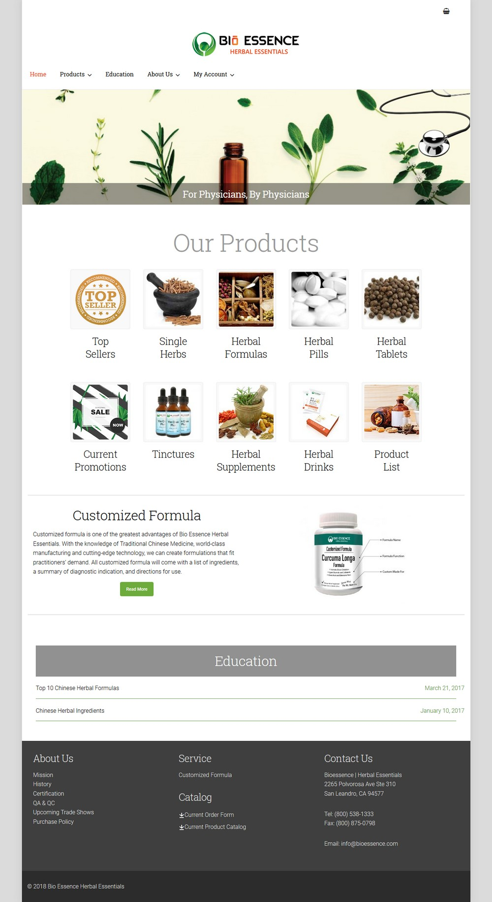 Bio Essence Herbal Essentials - Successfully Delivered Projects On-Time and On-Budget. Improved Website Conversation Rate By 80% Against Existing Control.