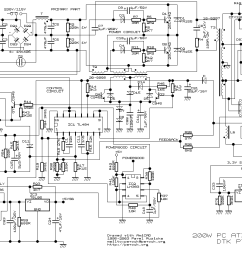 200w atx pc power supply pc atx power supply schematic atx power supply schematic [ 1392 x 850 Pixel ]