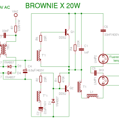 Lamp Wiring Diagram Twisted Pair Compact Fluorescent Schema Browniex 20w