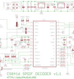 schematics diagram of cs8416 spdif decoder version 1 1 [ 1104 x 723 Pixel ]