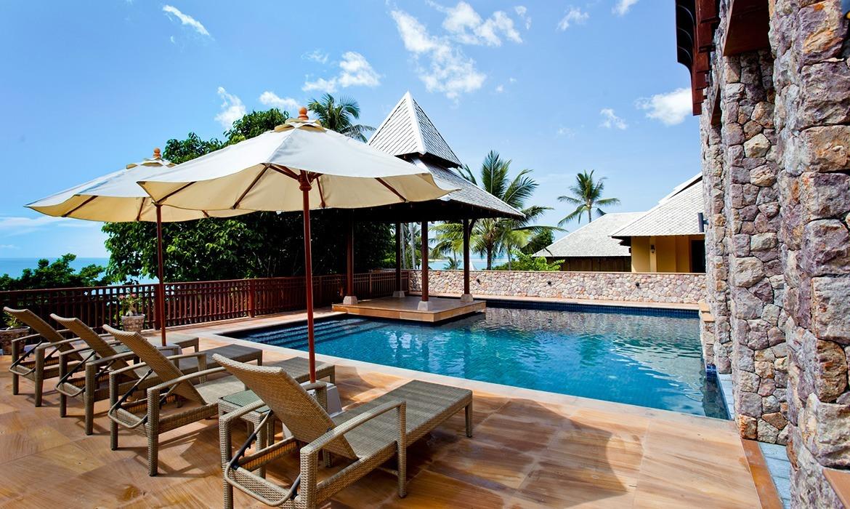 Chaweng Beach Pool Villa Pawanthorn Samui Villa Three Bedroom
