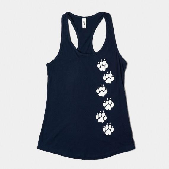 PAW Prints v-neck shirt