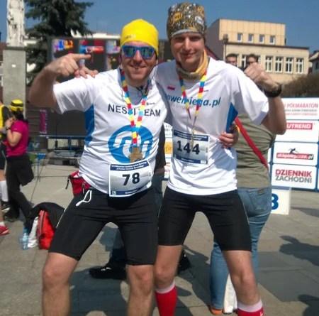 XV Półmaraton Żywiecki - meta