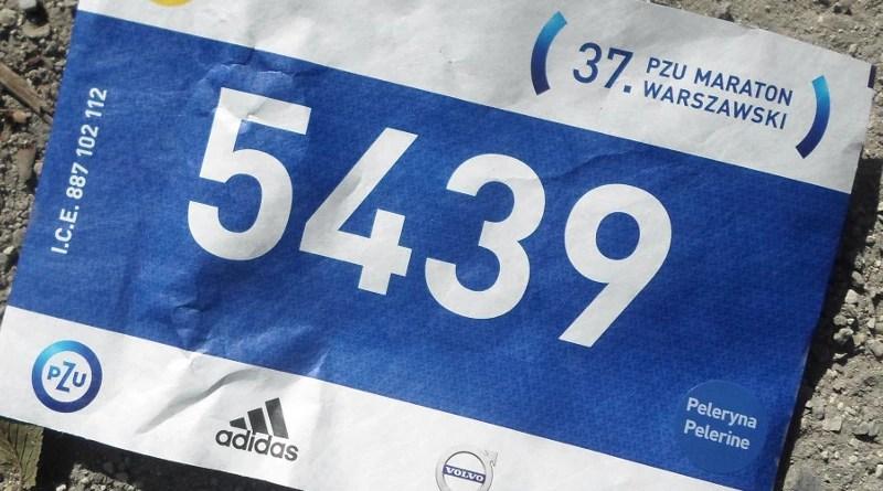 37 Maraton Warszawski - numer