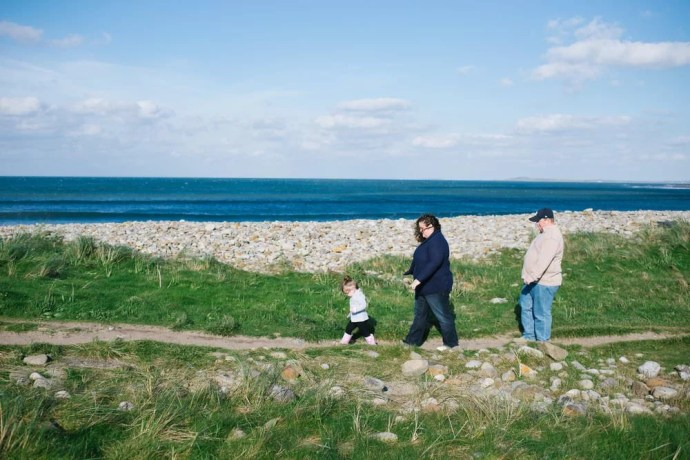 family photo session Strandhill Beach
