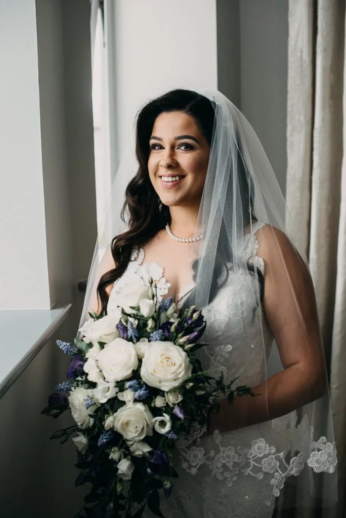 bride's wedding portrait in Clayton Hotel Sligo