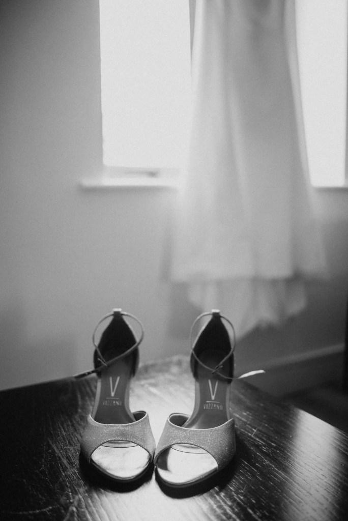wedding shoes at castle dargan venue