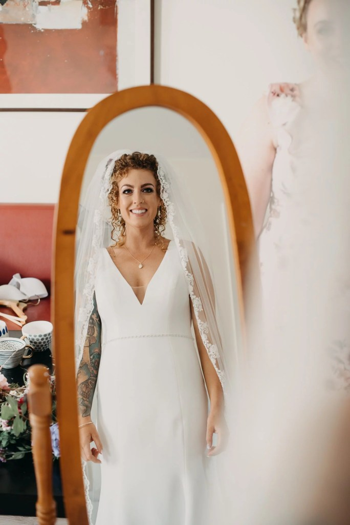 getting ready of bride at castle dargan