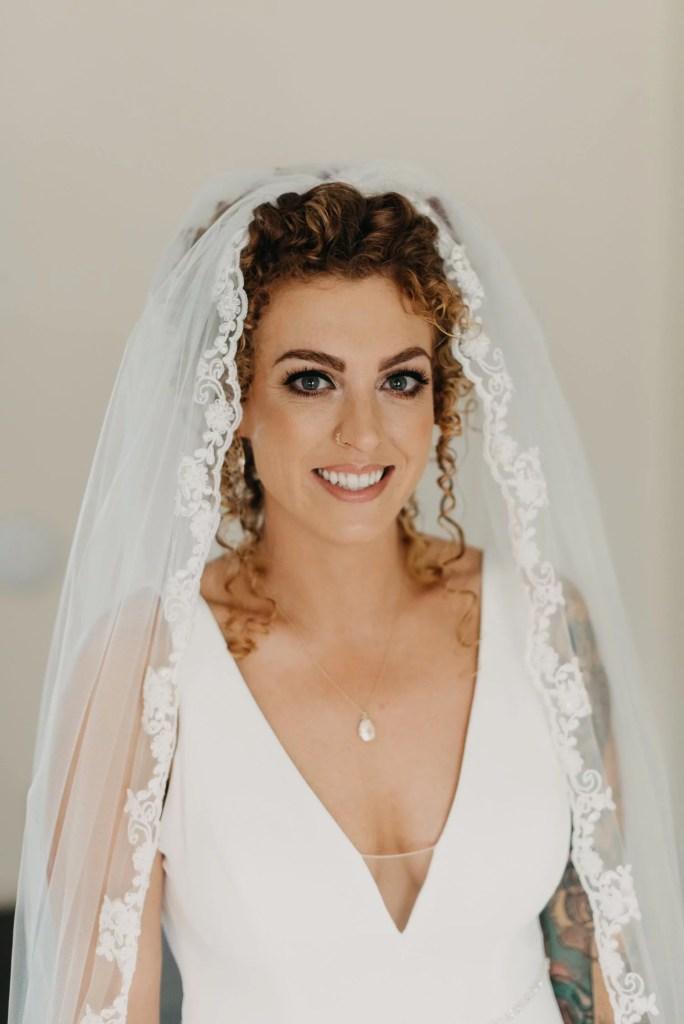 wedding portrait of bride at castle dargan venue, Sligo, Ireland