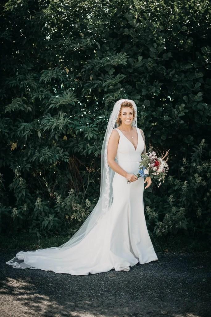 portrait of bride, Benbulben forest walk, Sligo, Ireland