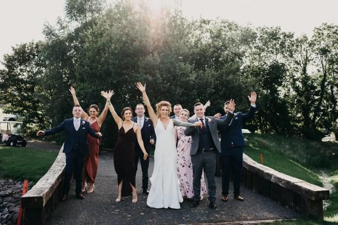 bridal party in castle dargan