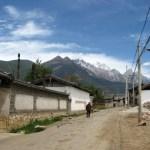 Lijiang - Baisha - rower - góry 1