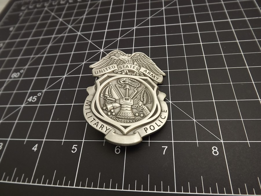 """BRAND NEW BADGE U.S. ARMY Brigade MILITARY POLICE 2-3/4"""" HEAVY WEIGHT PEWTER FULL SIZE 3"""