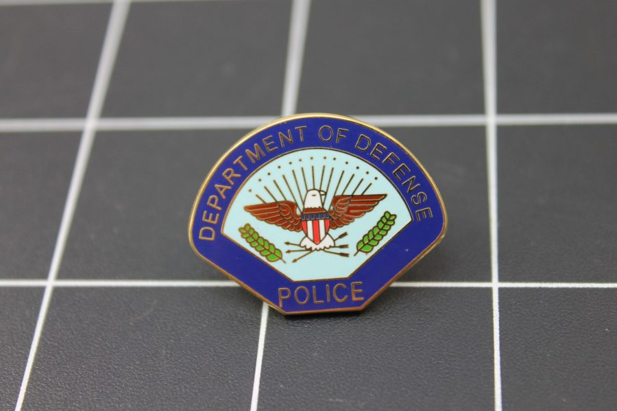 """DEPARTMENT OF DEFENSE""  Enamel Lapel Pin BRAND NEW POLICE 1"