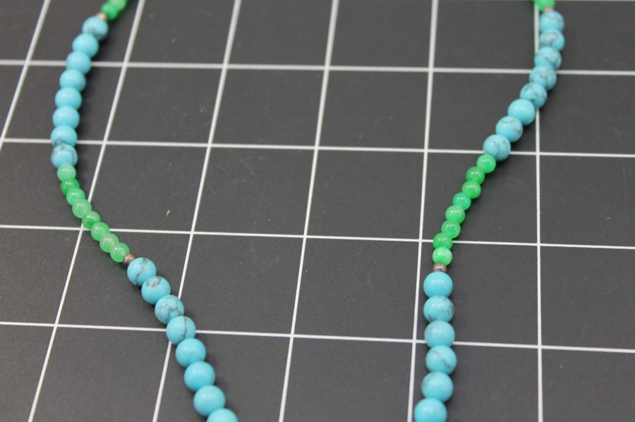 Genuine Amethyst with a Sterling Silver Clasp Turquoise Handmade Beaded Necklace One-Of-A-Kind 4