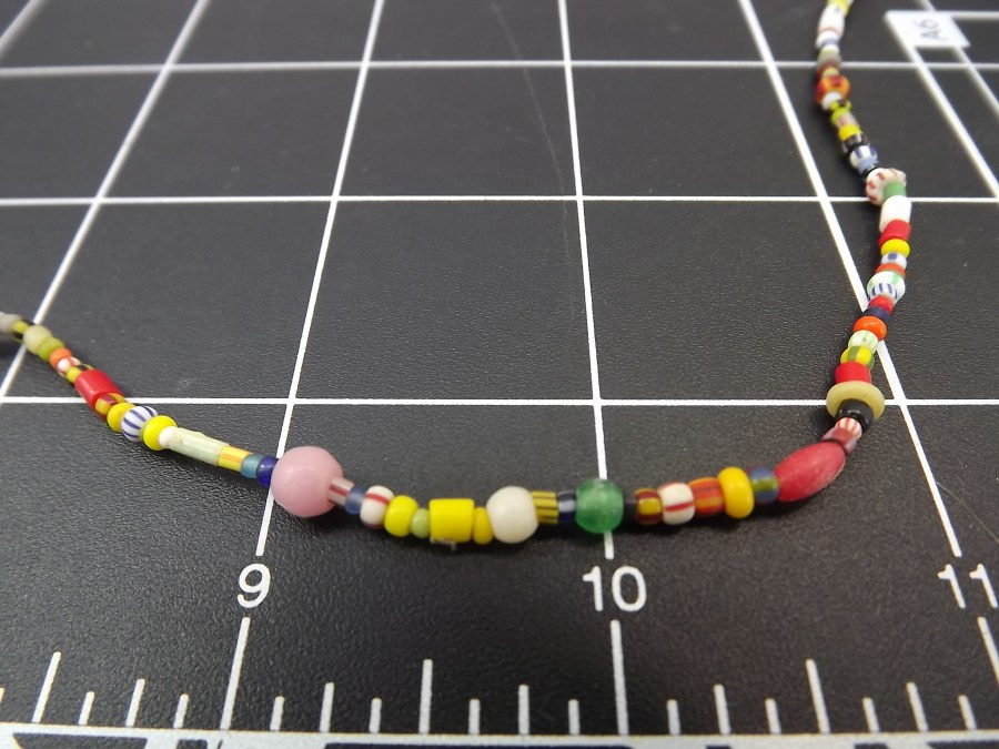 Effie Mona Mack Estate antique bead necklace multicolored made of genuine stones and glass Approximately 30 Inches in Length 4