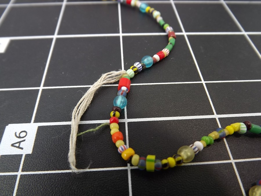 Effie Mona Mack Estate antique bead necklace multicolored made of genuine stones and glass Approximately 36 Inches in Length 4