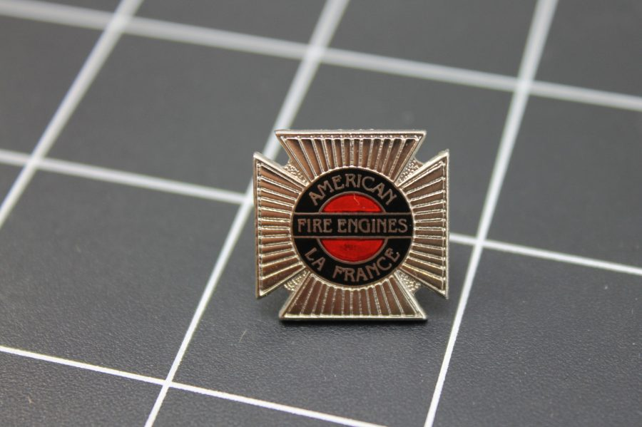 Brand-New AMERICAN LA FRANCE FIRE ENGINE FIRE DEPARTMENT Fireman Enameled Lapel Pin Lifetime Guarantee 1