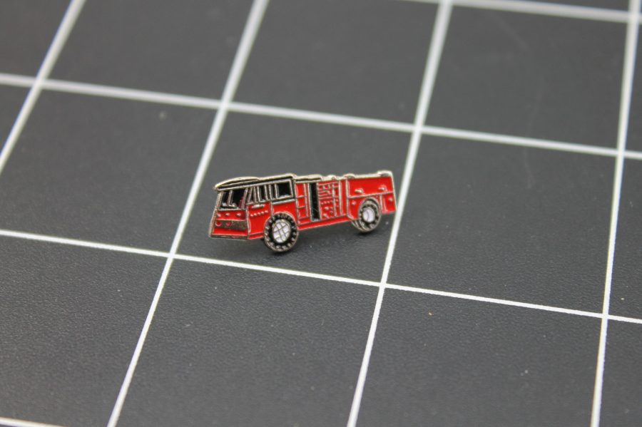 Brand-New FIRE TRUCK RED Fireman Enameled Lapel Pin Lifetime Guarantee 1