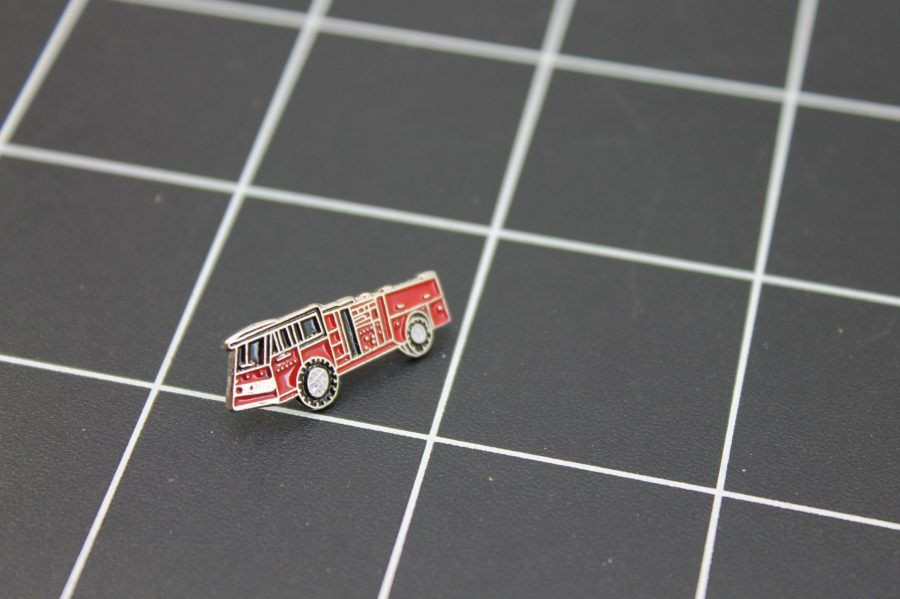 Brand-New FIRE TRUCK RED Fireman Enameled Lapel Pin Lifetime Guarantee 2