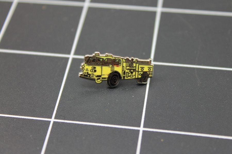 Brand-New FIRE TRUCK YELLOW Fireman Enameled Lapel Pin Lifetime Guarantee 1