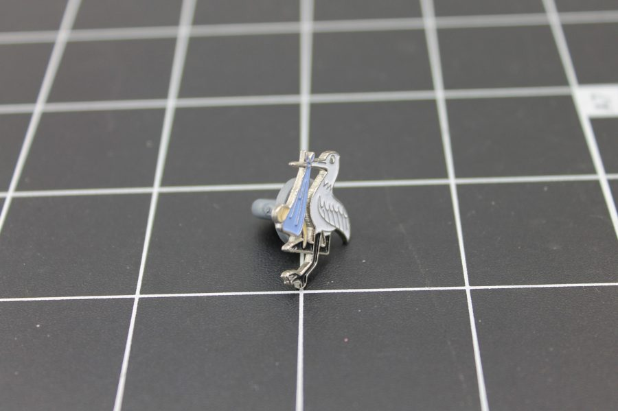 Brand-New STORK WITH BABY Enameled Lapel Pin Lifetime Guarantee 2
