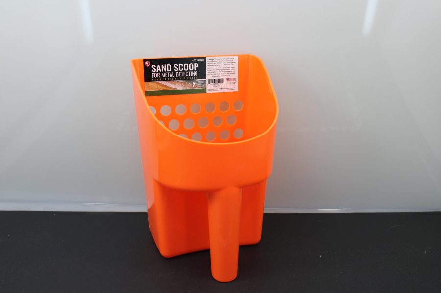 "8.1/2"" Hand Held Plastic Sand Scoop for Metal Detectors-ORANGE BRAND NEW  GREAT FOR BEACHES AND METAL DETECTING 1"