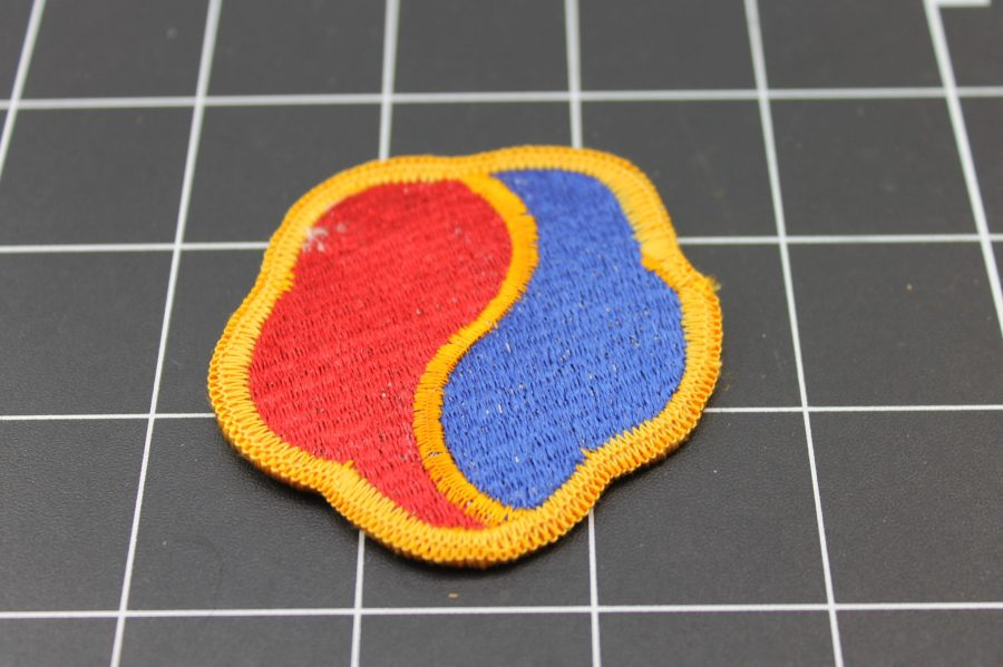 RED AND BLUE MILITARY IRON ON PATCH 2