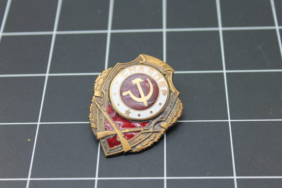 ENAMEL RUSSIA SOVIET UNION MILITARY BADGE 2