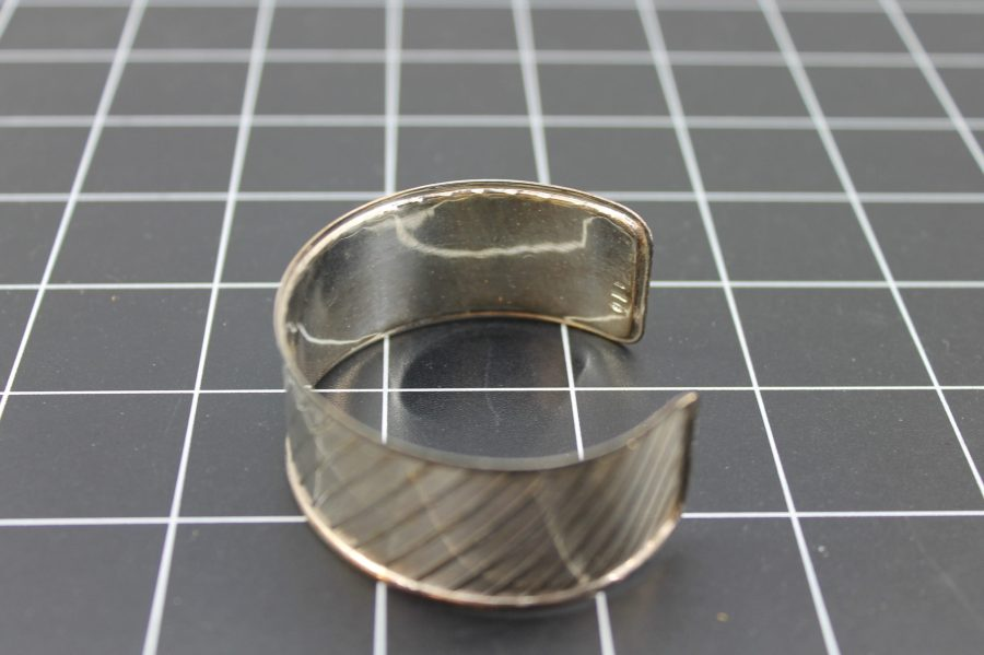 SILVER 925 MADE IN ITALY PATTERNED CUFF BRACELET 14.5 Grams 3
