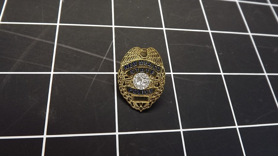 BRAND NEW NEW MEXICO STATE POLICE BADGE LAPEL / HAT PIN 1