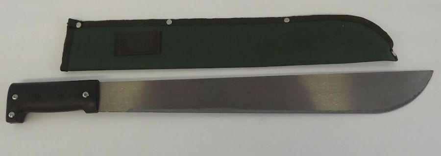 "BRAND NEW 18"" Machete Stainless Blade & Black Handle Jungle Knife With Sheath 1"