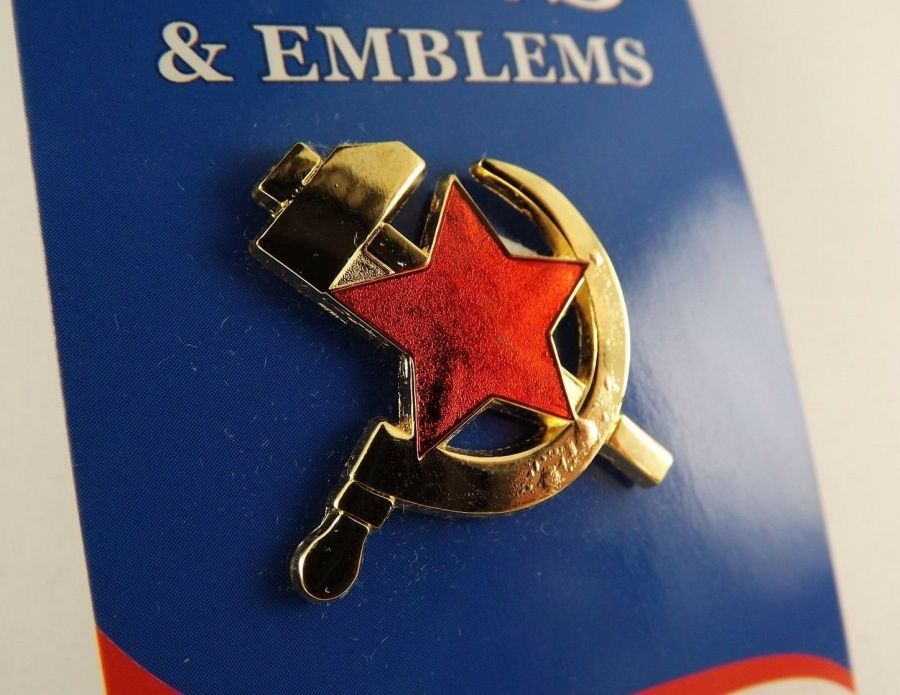 "BRAND NEW Lapel Pin RUSSIA Hammer / Sickle Red Star 1"" 1"