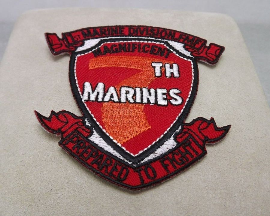 MARINE CORPS USMC 7TH MARCHING REGIMENT DIVISION PATCH BRAND NEW 1