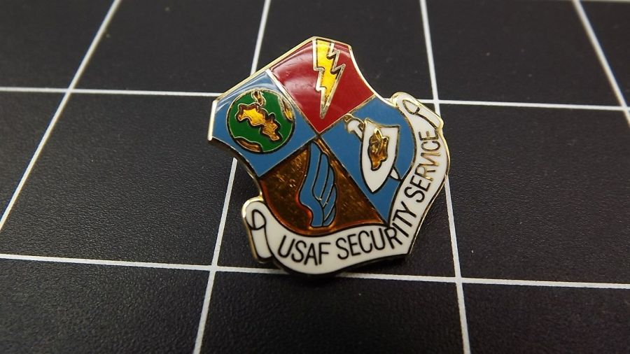 "CLOSEOUT! BRAND NEW Lapel Pin ""US AIR FORCE SECURITY SERVICE"" LIFETIME GUARANTEE 3"
