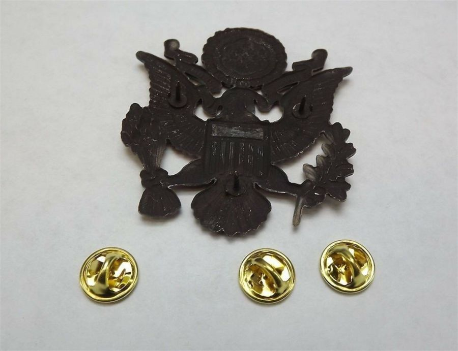 """Lapel pin NEW Badge US Army Officer 2-1/2"""" Antique Style 4"""