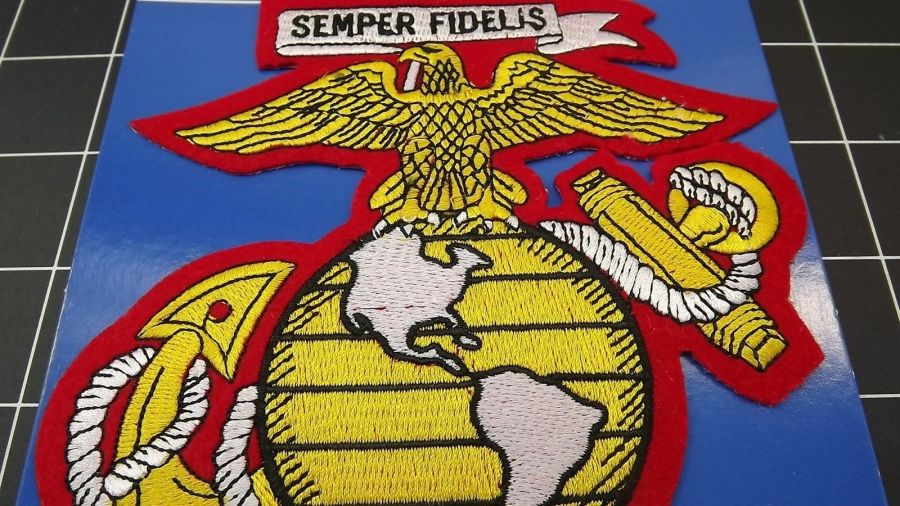 "MARINE CORPS USMC PATCH LARGE LOGO SEMPER FI 5.5"" NEW GLOBE EAGLE ANCHOR ""EGA"" 4"