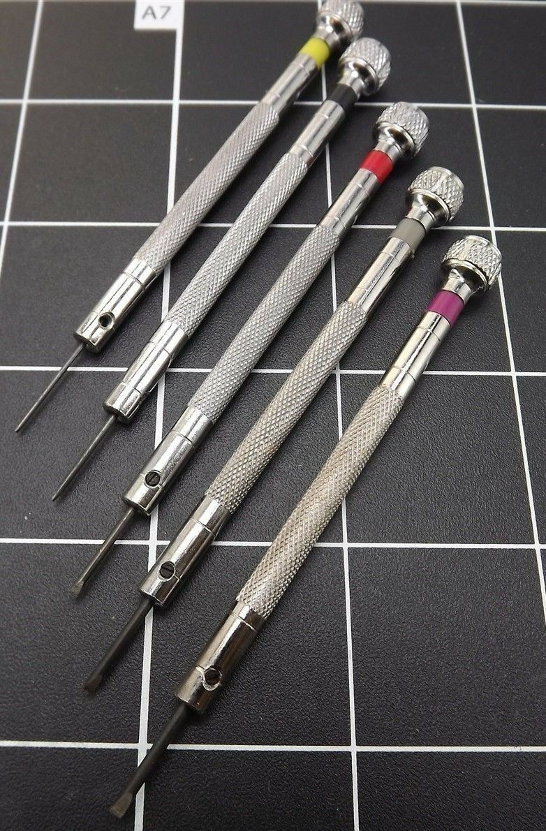 New 5-PIECE Precision Screwdriver Set  (WITH 5 EXTRA TIPS) JEWELERS, WATCHMAKERS 1