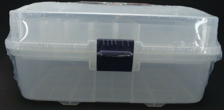 New Transparent Plastic Tool Box & Removable Inner Tray 3