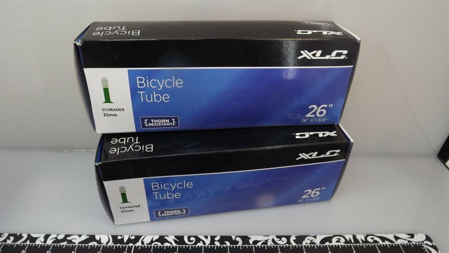 "XLC THORN RESISTANT TUBE 26"" X 1-3/8"" SCHRADER INNER TUBE 2-PIECE SET ""BICYCLE"" 1"