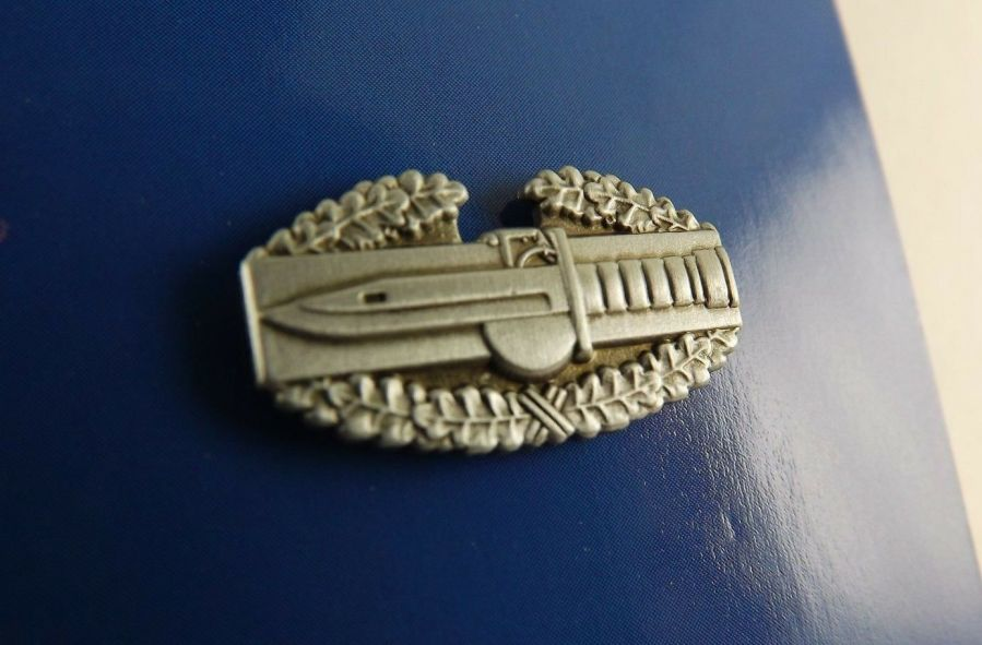 """BRAND NEW Lapel Pin ARMY CAB Combat Action Badge Pewter 7/8"""" 1"""