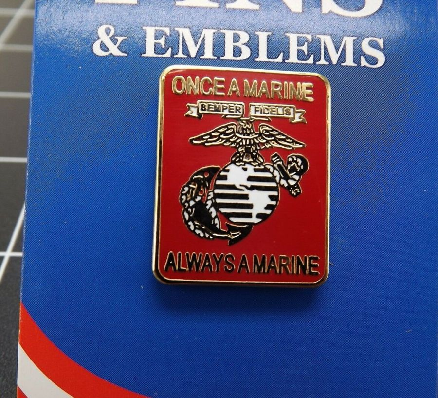 "BRAND NEW Lapel Pin United States Marine Corps Once A Marine Always A Marine 1"" 1"
