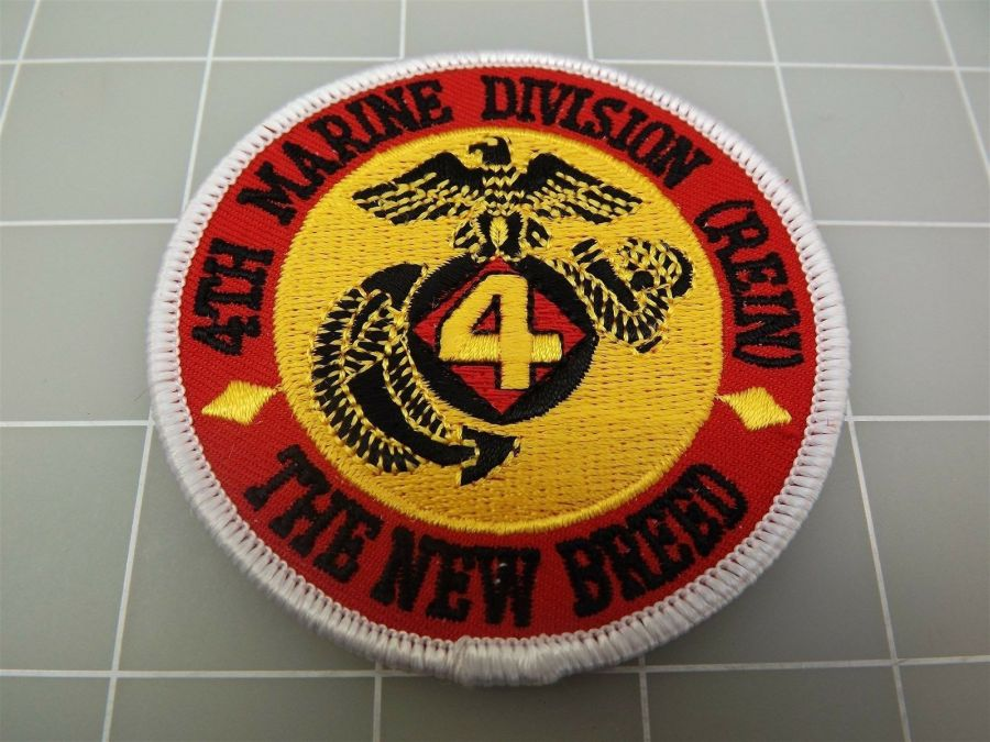 """BRAND NEW U.S. Marines USMC 4TH Marine Division (REIN) The New Breed Patch 3"""" 1"""