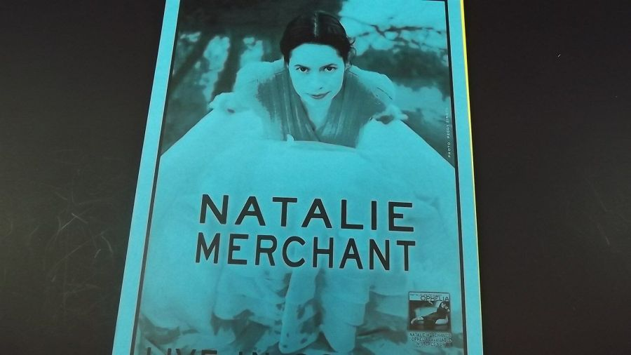 Genuine 1999 NATALIE MERCHANT Live In Concert Paramount Theatre Poster Flyer Ad 4