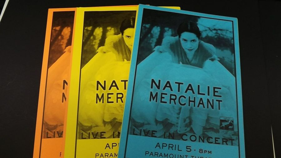 Genuine 1999 NATALIE MERCHANT Live In Concert Paramount Theatre Poster Flyer Ad 5