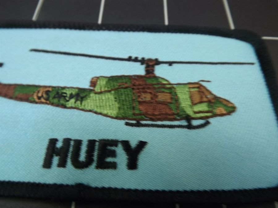 """HUEY"" HELICOPTER BRAND NEW PATCH 4-3/8"" X 2-3/8"" IRON-ON 3"